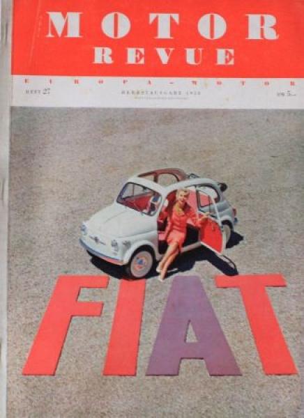 """""""Motor Revue"""" Motor-Zeitschrift 1958"""