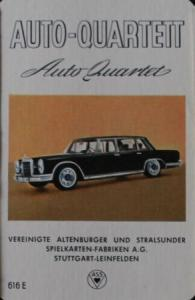 "Altenburger ""Auto-Quartett"" 1963 Kartenspiel"