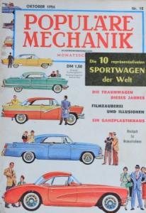 """Populäre Mechanik"" Sportwagen der Welt 1956 Technik-Magazin"