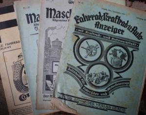 """""""Westdeutscher Maschinenmarkt"""" Technik-Magazin 4 Ausgaben 1929-33"""