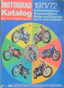 """Motorrad Katalog 71 - Serien- und Rennmaschinen"" Jahreskatalog 1971"