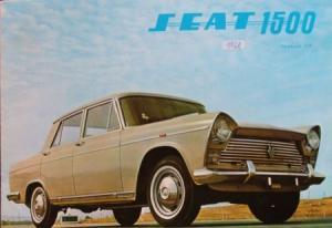 Seat 1500 Modellprogramm 1966 Automobilprospekt