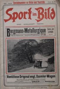 """""""Sport im Bild"""" Rennsport-Magazin 1914"""