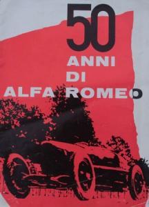 "Alfa Romeo ""50 Anni di Alfa Romeo"" 1959 Automobilprospekt"