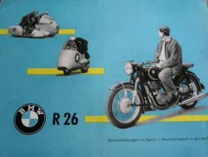 BMW R 26 Modellprogramm 1956 Motorradprospekt
