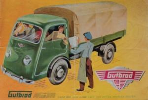 Gutbrod Atlas 800 Kleinlaster 1950 Automobilprospekt