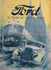 """Ford """"10 Jahre in Deutschland"""" 1936 Automobilprospekt"""