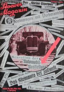 Stoewer Magazin 1931 Automobilprospekt