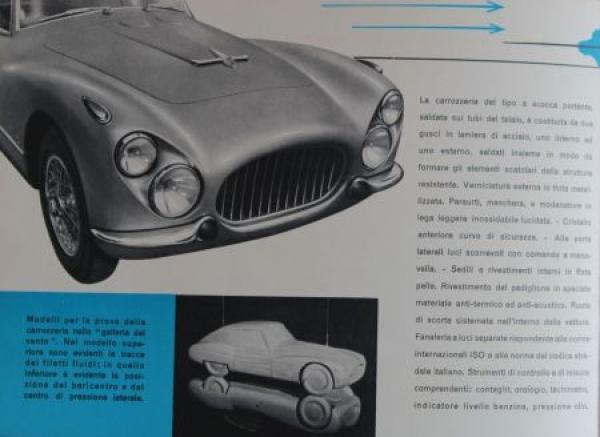 Fiat 8V 2 Posti 8 Zylinder Modellprogramm 1953 Automobilprospekt 1
