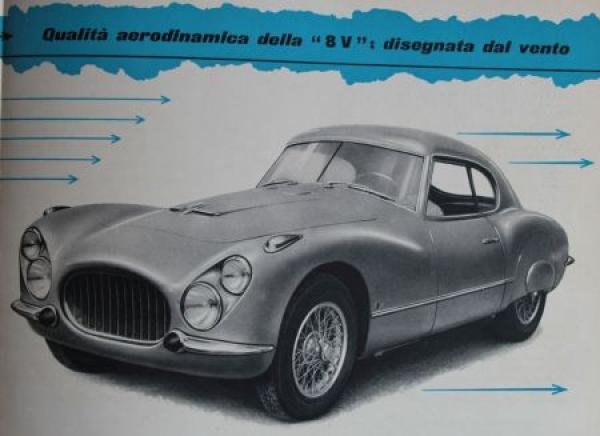 Fiat 8V 2 Posti 8 Zylinder Modellprogramm 1953 Automobilprospekt 2