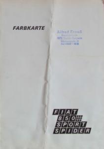 Fiat 850 Sport Spider 1972 Farbkarte
