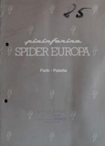 Fiat 124 Pininfarina Spider Europa 1982 Farbkarte