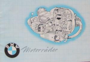 BMW Motorräder Modellprogramm 1952 Motorradprospekt