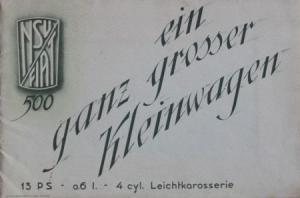 """Fiat 500 Topolino """"Ein ganz grosser Kleinwagen"""" 1938 Automobilprospekt"""