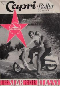 "Garelli Capri Roller 50 ccm ""Der Star seiner Klasse"" 1968 Motorradprospekt"