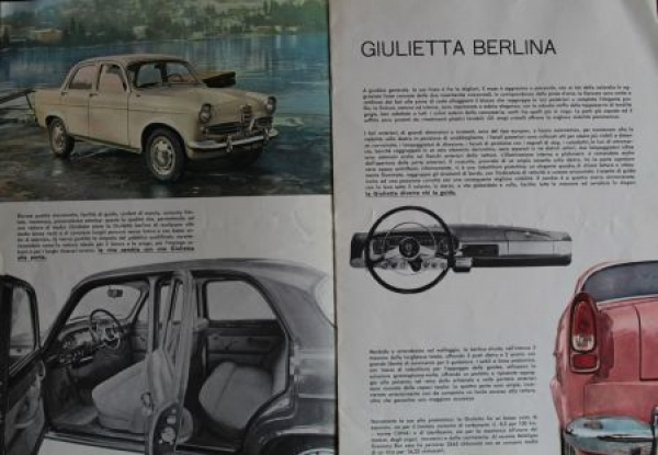 """Alfa Romeo Modellprogramm """"La Gioia di Possedere"""" 1960 Automobilprospekt 1"""