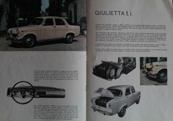 """Alfa Romeo Modellprogramm """"La Gioia di Possedere"""" 1960 Automobilprospekt 2"""