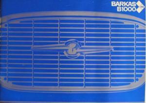 Barkas B 1000 Modellprogramm 1969 Nutzfahrzeugprospekt