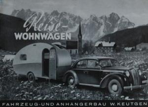 Opel Reise-Wohngwagen Fahrzeugbau Keutgen 1939 Automobilprospekt