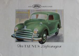 Ford Taunus Lieferwagen 1950 Automobilprospekt