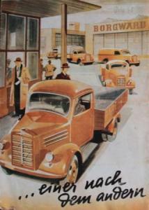 """Borgward B 1000 """"...einen nach dem anderen"""" 1949 Lastwagen-Prospekt"""