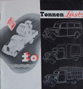 Hansa-Lloyd 1 to. Diesel 1937 Lastwagen-Prospekt