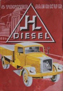 Hansa-Lloyd 4 to. Merkur 1935 Lastwagen-Prospekt