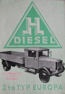 Hansa-Lloyd 3 to. Typ Europa 1935 Lastwagen-Prospekt