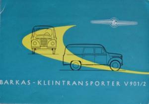 Barkas V 901 Kleintransporter 1960 Lastwagen-Prospekt