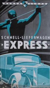 Hansa-Lloyd Schnelllieferwagen Express 1936 Lastwagen-Prospekt