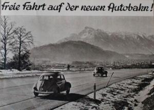 """Turecek """"Auf der neuen Autobahn"""" 1960 zwei Werbeprospekte"""