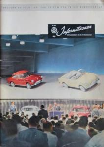"""""""Volkswagen Informationen"""" Mitteilungsblatt 1961 VW-Magazin"""