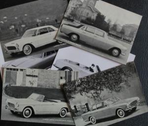 Lancia 1960 Modellprogramm 6 Werkspostkarten