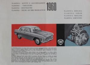 Lancia Flamina 1960 Automobilprospekt
