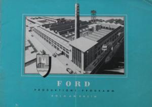 Ford Produktions-Programm 1950 Automobilprospekt
