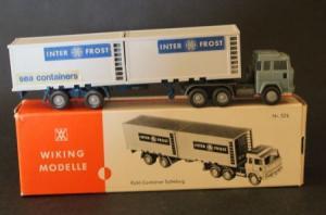 "Wiking Magirus 235 D Kühl-Sattelzug ""Inter-Frost"" 1970 Plastikmodell in Originalbox"