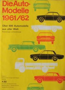 """""""Die Auto-Modelle Katalog 1961/62"""" Automobil-Jahrbuch"""
