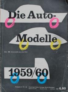 """""""Die Auto Modelle Katalog 1959/60"""" Automobil-Jahrbuch"""