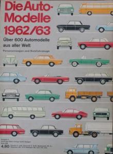 """""""Die Auto-Modelle Katalog 1962/63"""" Automobil-Jahrbuch"""