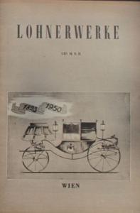 Lohnerwerke Modellprogramm 1950 Automobilprospekt