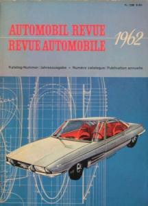 """""""Automobil Revue 62"""" Automobil-Jahrbuch 1962"""
