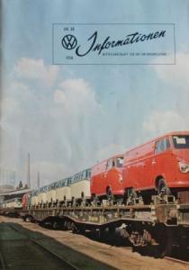 """""""Volkswagen Informationen"""" Mitteilungsblatt 1958 VW-Magazin"""