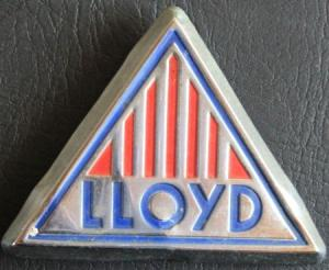 Lloyd Automobile Kühleremblem 1958 Metall