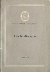 """Borm """"Der Sowjet Kraftwagen"""" 1954 UdssR-Automobil-Historie"""