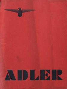 Adler Trumpf Verkaufsmappe 1937 Schriftwechsel-Konvolut in Original-Mappe