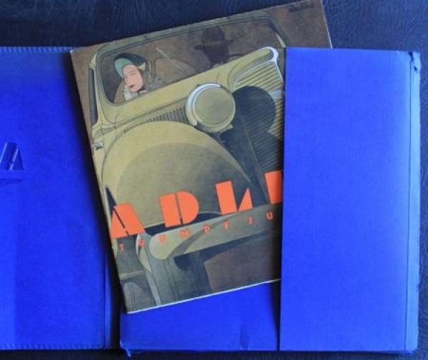 Adler-VerkaufsmAdler Verkaufsmappe 1935 mit Verkaufsprospekt Trumpf Junior 2