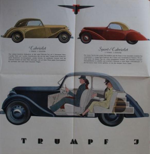 Adler-VerkaufsmAdler Verkaufsmappe 1935 mit Verkaufsprospekt Trumpf Junior 3