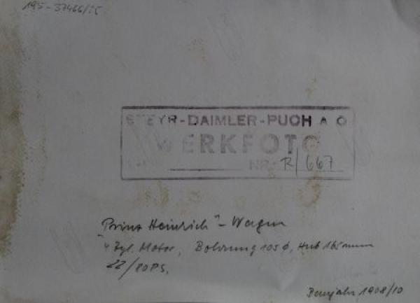 Steyr Prinz-Heinrich Wagen 1908 Werksphoto 1