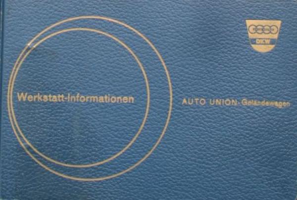 DKW Auto-Union Geländewagen 1959 Reparatur-Handbuch in Originalordner 0