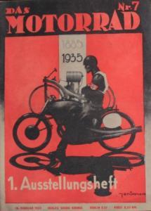 """""""Das Motorrad"""" Motorrad-Zeitschrift 1935 Ausstellungsheft"""